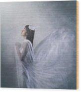 'pray Of Angel' Wood Print