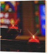 Prayer Candles Trinity Cathedral Pittsburgh Wood Print