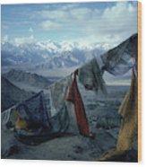Prayer Flags Leh Ladakh Wood Print