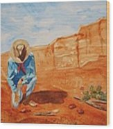 Prayer For Earth Mother Wood Print