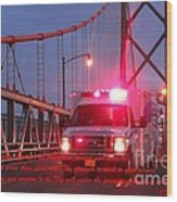 Prayer For Emergency Health Care First Responders Wood Print