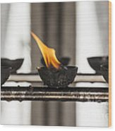 Prayer Lamps Wood Print