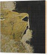 Prayer Lion Wood Print
