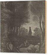 Prayer Of Jesus In The Garden Of Olives Wood Print