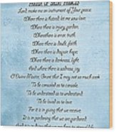 Prayer Of Saint Francis Wood Print