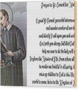Prayer To St. Gerard For Motherhood Wood Print