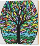 Prayer Tree Wood Print