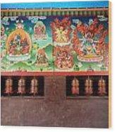 Prayer Wheels And Paintings Wood Print
