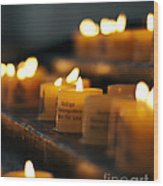 Prayers And Hope Wood Print