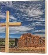 Prayers In The Desert Wood Print