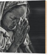 Prayers Wood Print