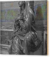 Praying Statue In Chantilly Wood Print