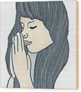 Praying Woman  Wood Print