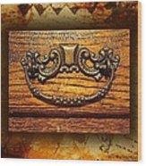 Pre-civil War Bookcase-drawer Pull Wood Print