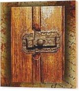Pre-civil War Bookcase-glass Doors Latch Wood Print