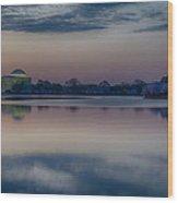 Pre-dawn At The Jefferson Memorial  Wood Print