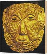 Pre-inca Gold Mask Wood Print