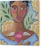 Precious Heart by Elaine Jackson Wood Print