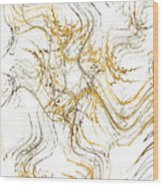 Precious Metal 1 White Decorator Collection 1 Wood Print