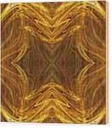 Precious Metal 3 Ocean Waves Dark Gold Wood Print by Andee Design