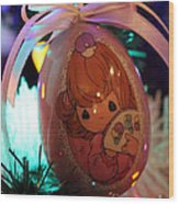 Precious Moments Christmas Ornament Wood Print