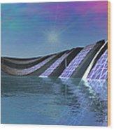 Precious Water Alien Landscape Wood Print