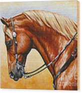 Precision - Horse Painting Wood Print by Crista Forest