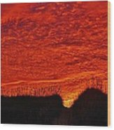 Predawn Dune Color Explosion 5 10/30 Wood Print