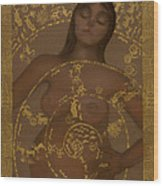 Pregnant Mother Goddess Wood Print by Diana Perfect
