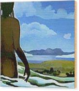 Premonition - Bream Bay Goddess Wood Print by Patricia Howitt