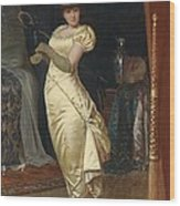 Preparing For The Ball Wood Print by Frederick Soulacroix
