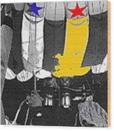 Preparing To Launch A Hot Air Balloon Dawn Albuquerque New Mexico 1973-2014 Wood Print