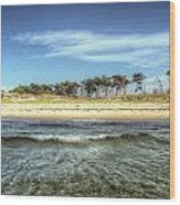 Prerow Beach Wood Print