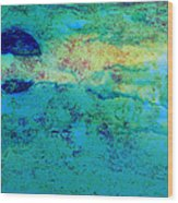 Prescott Blue Abstract Wood Print