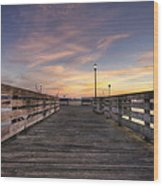 Prescott Park Boardwalk Wood Print by Eric Gendron