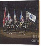 Presenting The Colors On Horseback Wood Print