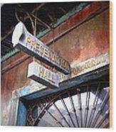 Preservation Hall Wood Print