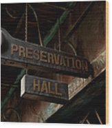Preservation Hall Jazz Club Wood Print