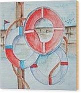 Preserver Rings On Guard Wood Print