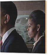 President And Mrs Obama Wood Print