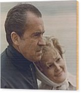President And Pat Nixon In An Wood Print