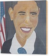President  Barack Obama Wood Print by John Onyeka
