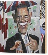 President Barock Obama Change Wood Print