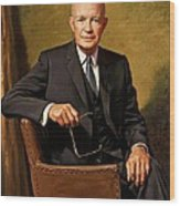 President Dwight D. Eisenhower By J. Anthony Wills Wood Print