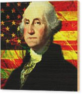 President George Washington V2 Wood Print by Wingsdomain Art and Photography