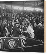 President Herbert Hoover And Baseball Great Walter Johnson 1931 Wood Print