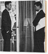 President John Kennedy And Robert Kennedy Wood Print