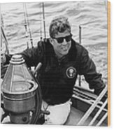 President John Kennedy Sailing Wood Print by War Is Hell Store