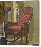 President Lincoln's Chair Wood Print