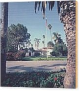 President Nixons Home In San Clemente Wood Print by Everett